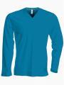 Pánské tričko dl.rukáv V-neck - Výprodej