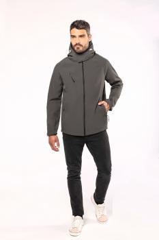 Pánská softshellová bunda s kapucí
