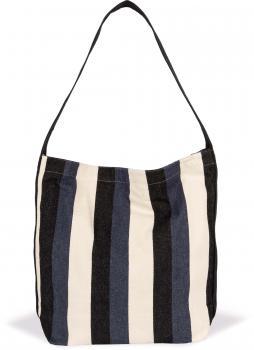 Recyklovaná taška pøes rameno - Pruhovaný vzor