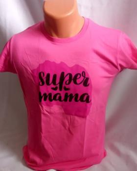 Dámské trièko - potisk super máma