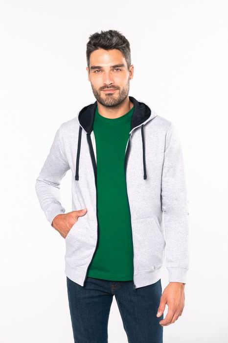 Pánská mikina s kontrastní kapucí Contrast Hooded Sweatshirt - zvìtšit obrázek