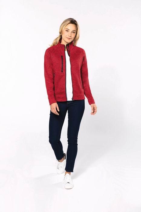 Dámská bundová mikina Full zip heather jacket - zvìtšit obrázek