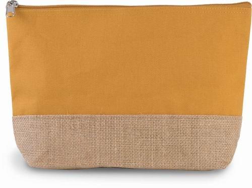 Taštièka na zip Juta/Bavlna - zvìtšit obrázek