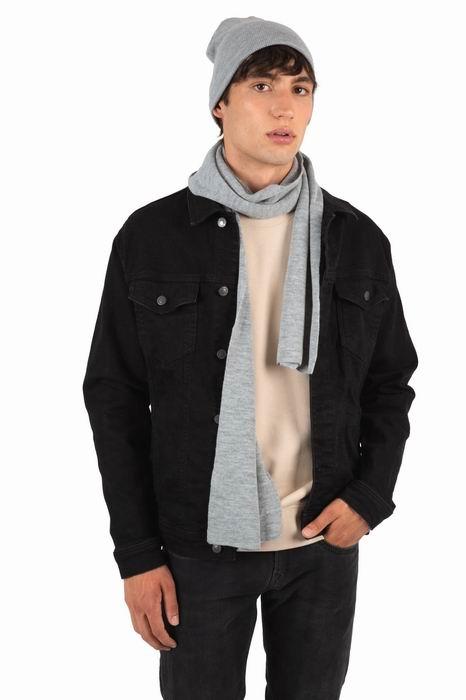 Teplý úpletový šátek na krk - zvìtšit obrázek