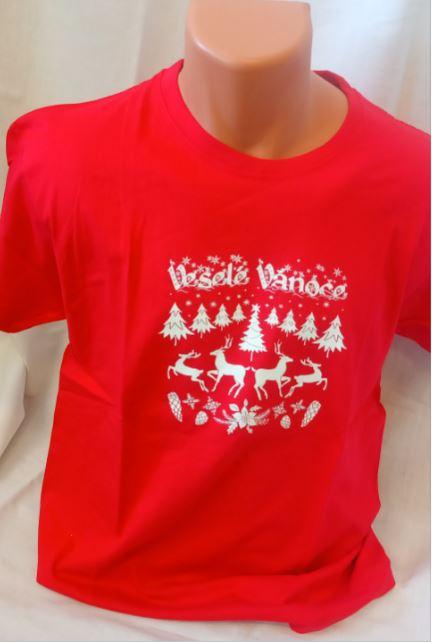 Triko s potiskem  Veselé vánoce - sob - Unisex - zvìtšit obrázek