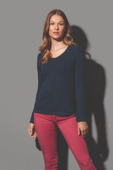 Dámské trièko dl. rukáv CLAIRE V-neck - zvìtšit obrázek